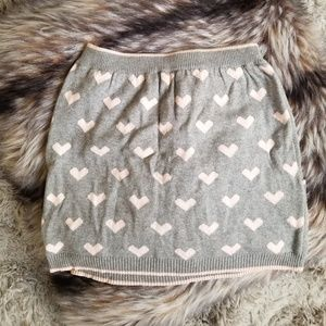 Light Pink/Gray Heart Skirt